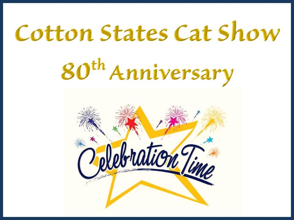 Cotton States 2018 Cat Show Announcement
